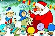 """Дед Мороз принимает гостей круглый год. // Кадр из мультфильма """"Дед Мороз и лето"""""""