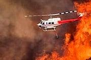 В тушении пожара была задействована воздушная техника. // msn.com