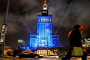 Варшавская высотка меняет цвета. // zw.com.pl / Fotorzepa / Kuba Kamiński