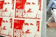 Агитационные плакаты президентской кампании Эскобара. // Wikipedia