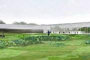 Здание из бетона и стекла разместится посреди парка. // louvrelens.fr