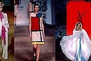 Выставка охватит все этапы творчества Ива Сен-Лорана. В центре - платье, созданное по мотивам живописи Мондриана. // stylefrizz.com