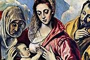 Эль Греко. Святое семейство. 1594-1604 гг.