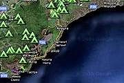 Стоянки и маршруты обозначены на карте. // crimea-portal.gov.ua