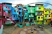 Фавелы Рио становятся живописными. // favelapainting.com