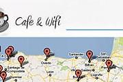 Пользователи смогут найти бесплатные точки доступа в интернет. // cafeandwifi.com