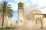 Колокольня церкви Сан-Диего обрушилась. // antena3.com