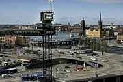 Лифт Katarinahissen на фоне города // sverigesradio.se