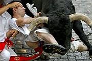 Забеги с быками - одно из главных событий праздника. // boston.com