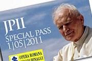 Впервые билеты были выпущены перед беатификацией. // prieststuff.blogspot.com