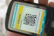 Мобильный посадочный талон Lufthansa // lufthansa.com