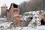 Зачатьевская башня была разрушена еще в XVII веке.  // vgoroden.ru