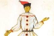 Петрушка родился в Новгородской области. // А.Бенуа. Эскиз костюма Петрушки.