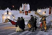 В снежной крепости проводятся представления. // relax.lidovky.cz