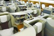 Салон бизнес-класса в Airbus A380 Emirates // Travel.ru