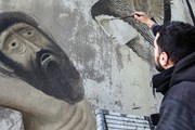 В Афинах можно увидеть иконописные граффити. // Greek.ru