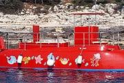 Одна из подводных лодок у берегов Котора. // montenegrosubmarine.me