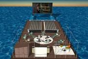 Под кинотеатр отведут гигантскую платформу.  // Seagram's Gin, Facebook