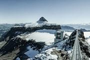 Стеклянный мост протянется на 100 метров.  // Glacier 3000, Proalps