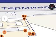 Фрагмент карты приложения Шереметьево // Юрий Плохотниченко
