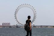 Уникальное сооружение установлено на мосту в городе Вэйфан. // Xinhua