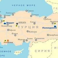 Карта горнолыжных курортов Турции