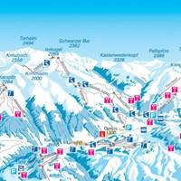 Схема трасс Целль-ам-Циллера (Тироль)