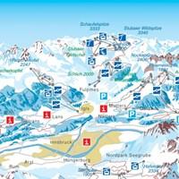 Схема трасс Инсбрука (Тироль)