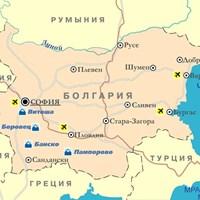 Карта горнолыжных курортов Болгарии