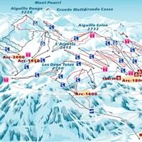 Схема трасс в Лез-Арк