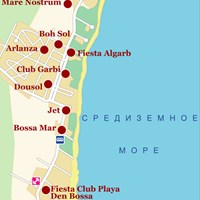 Карта курорта Плайя-ден-Босса