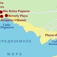 Карта курорта Санта-Понса