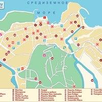 Карта курорта Пуэрто-де-ла-Круз