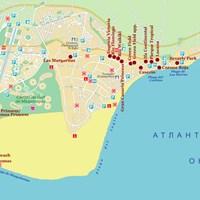 Карта курорта Маспаломас