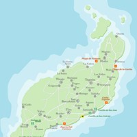 Карта острова Лансароте