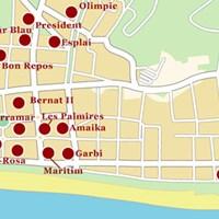 Карта курорта Калелья