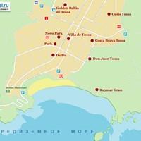 Карта курорта Тосса-де-Мар