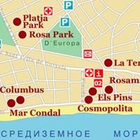 Карта курорта Плая-де-Аро