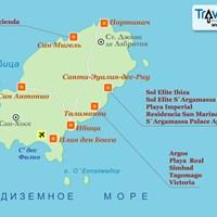 Карта острова Ибица