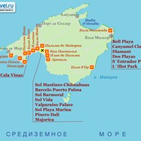 Карта острова Майорка