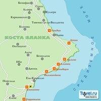 Карта курорта Коста-Бланка