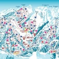 Схема трасс в Сестриере (Валь-ди-Суза)