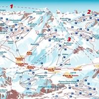 Схема трасс в Валь-ди-Фасса (Доломитовые Альпы)