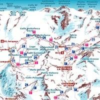 Схема трасс в Монте-Роза (Валь-д'Аоста)
