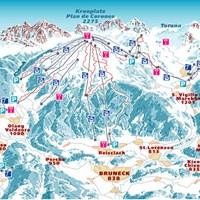 Схема трасс в Кронплаце (Доломитовые Альпы)