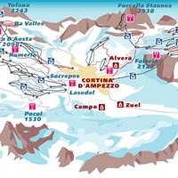 Схема трасс в Кортина-д'Ампеццо (Доломитовые Альпы)