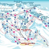 Схема трасс в Червинии (Валь-д'Аоста)