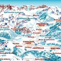 Схема трасс в Валь-ди-Фьемме (Доломитовые Альпы)