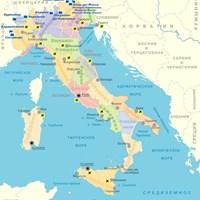 Карта горнолыжных курортов Италии