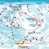 Схема трасс в Саас-Фе (Валлис)